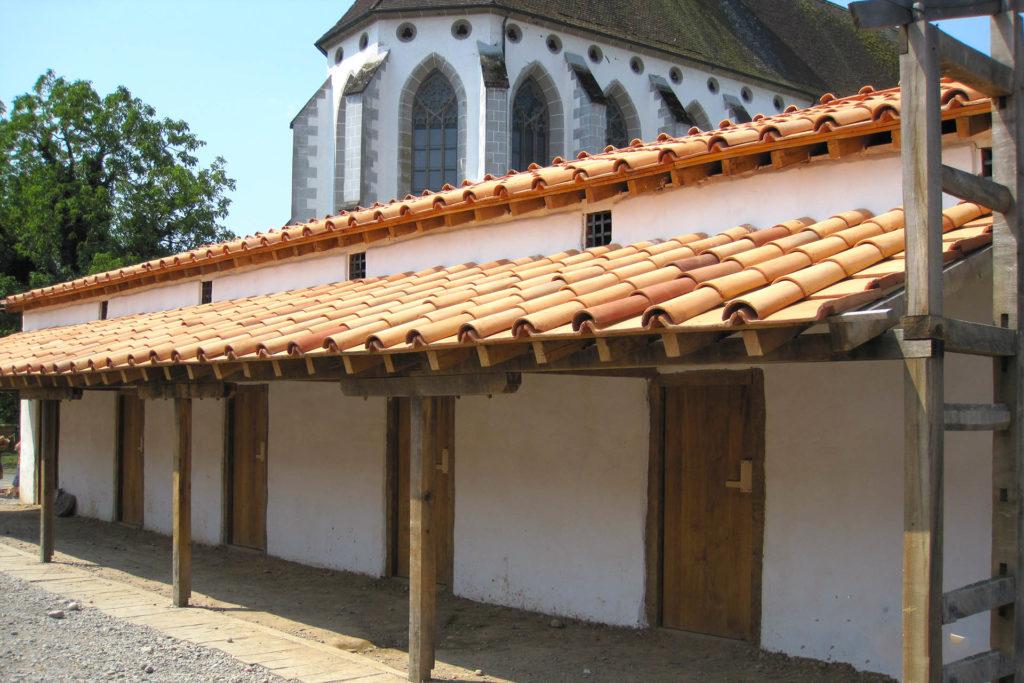Molinà Imbrices - Vendonissa dettaglio con chiesa
